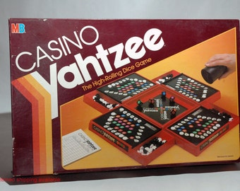 Casino Yahtzee Dice Game from Milton Bradley 1986 COMPLETE (read description)