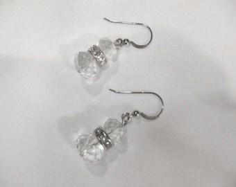 Sterling Silver Birthstone Swarovsky crystal earrings