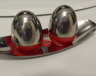 Quist Salt and Pepper Shakers Made in West Germany Space Age 70s Red