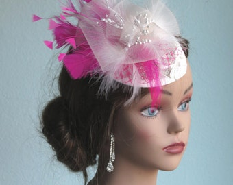 Wedding Hat Head Piece Kentucky Derby Hat Bridal Coctail Hat Couture Fascinator  Bridal Hat