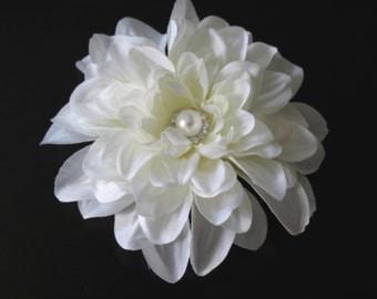 SALE Ivory Dahlia Bridal  Flower Hair Clips Wedding Hair Clip  Wedding Accessory Bridal Accessory