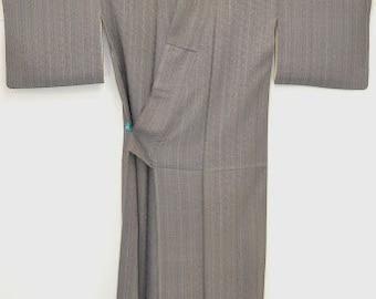 Vintage Tsukesage Kimono - Lovely Genji Wheel I5