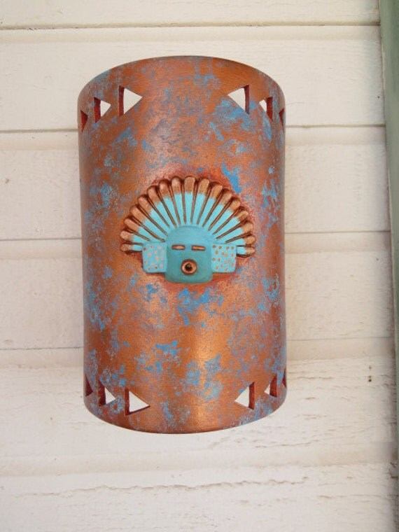 Indoor Wall sconce 3D kachina mask Made in the USA wall