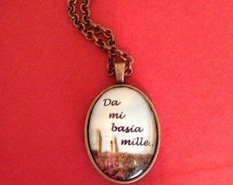 Da mi basia Mille copper pendant necklace