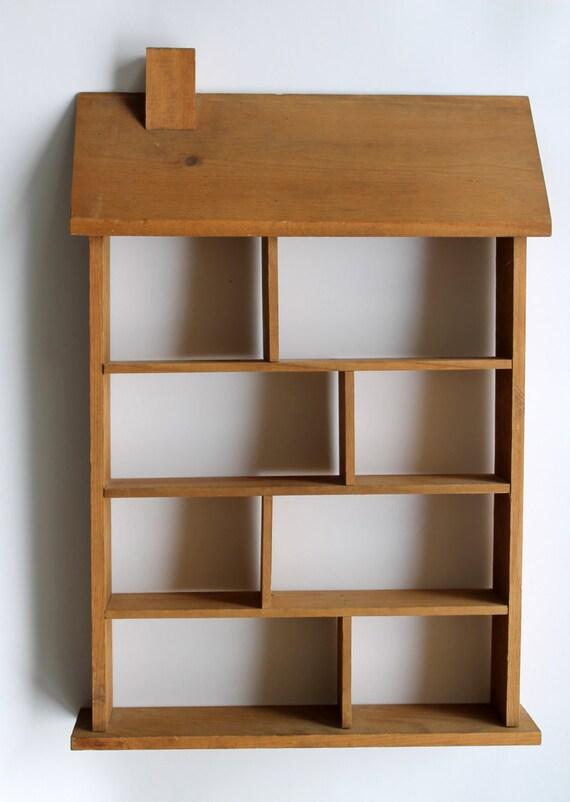 vintage wood wall shelf shadow box. Black Bedroom Furniture Sets. Home Design Ideas