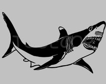 Popular Items For Shark Wall Decals On Etsy