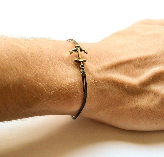 Souvent Bracelet ancre pour homme bracelet homme Ancre couleur LI03