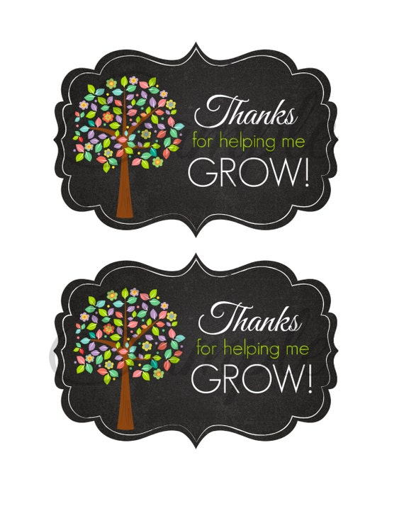 Impeccable image regarding thank you for helping me grow free printable