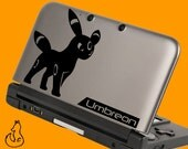 Umbreon Pokemon decal for 3DS XL, 3DS