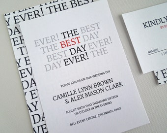 Best Day Ever Wedding Invitation, Wedding Invite, Printable