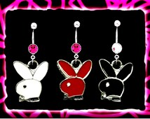 Playboy Bunny Dangle Navel Belly Ring * CUSTOMER FAVORITE
