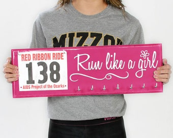 run like a girl: medals holder