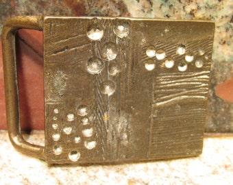 Vintage Modernist Organic Metal Belt Buckle