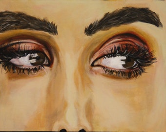 "Eyes -Original Acrylic Painting -  14""x11"""