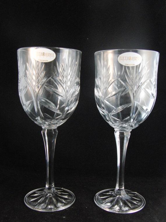 Genuine Lead Crystal Wine Glasses By Fifth Avenue Crystal 2