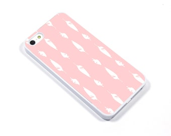 iPhone 5/5s iPhone 5c iPhone 6/6plus Samsung Galaxy S3 S4 S5 iPod touch 4th/5th Gen - Feather blush white