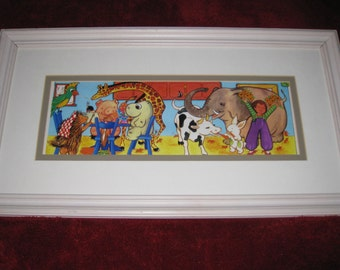 """FRAMED VINTAGE PRINT-""""And Dinner Alone Is A Bore"""" 12"""" x 22"""""""