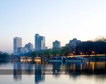 Milwaukee Skyline HDR Photography - Milwaukee, Wisconsin, 8x10 photo