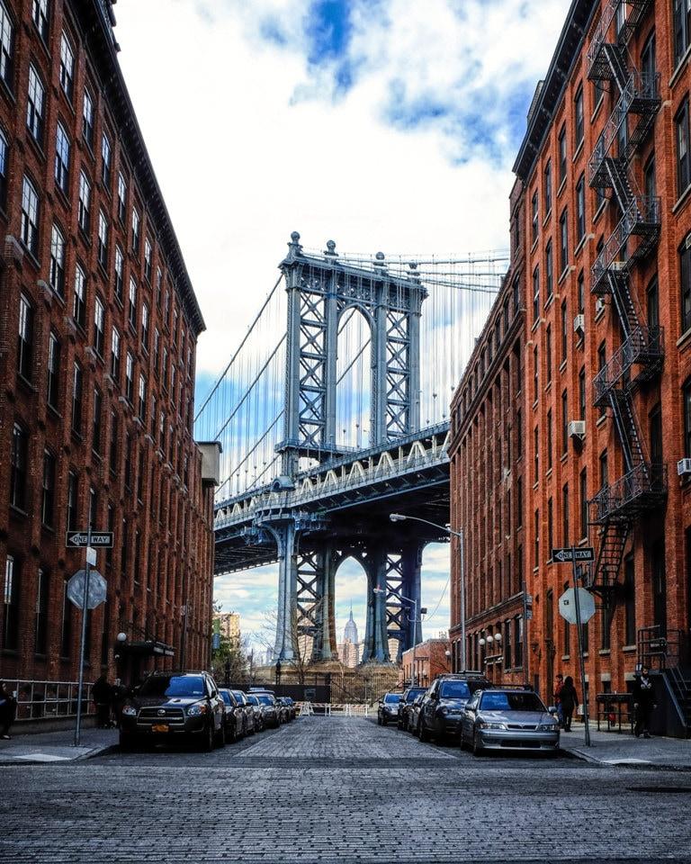 new york photography manhattan bridge color photograph view. Black Bedroom Furniture Sets. Home Design Ideas