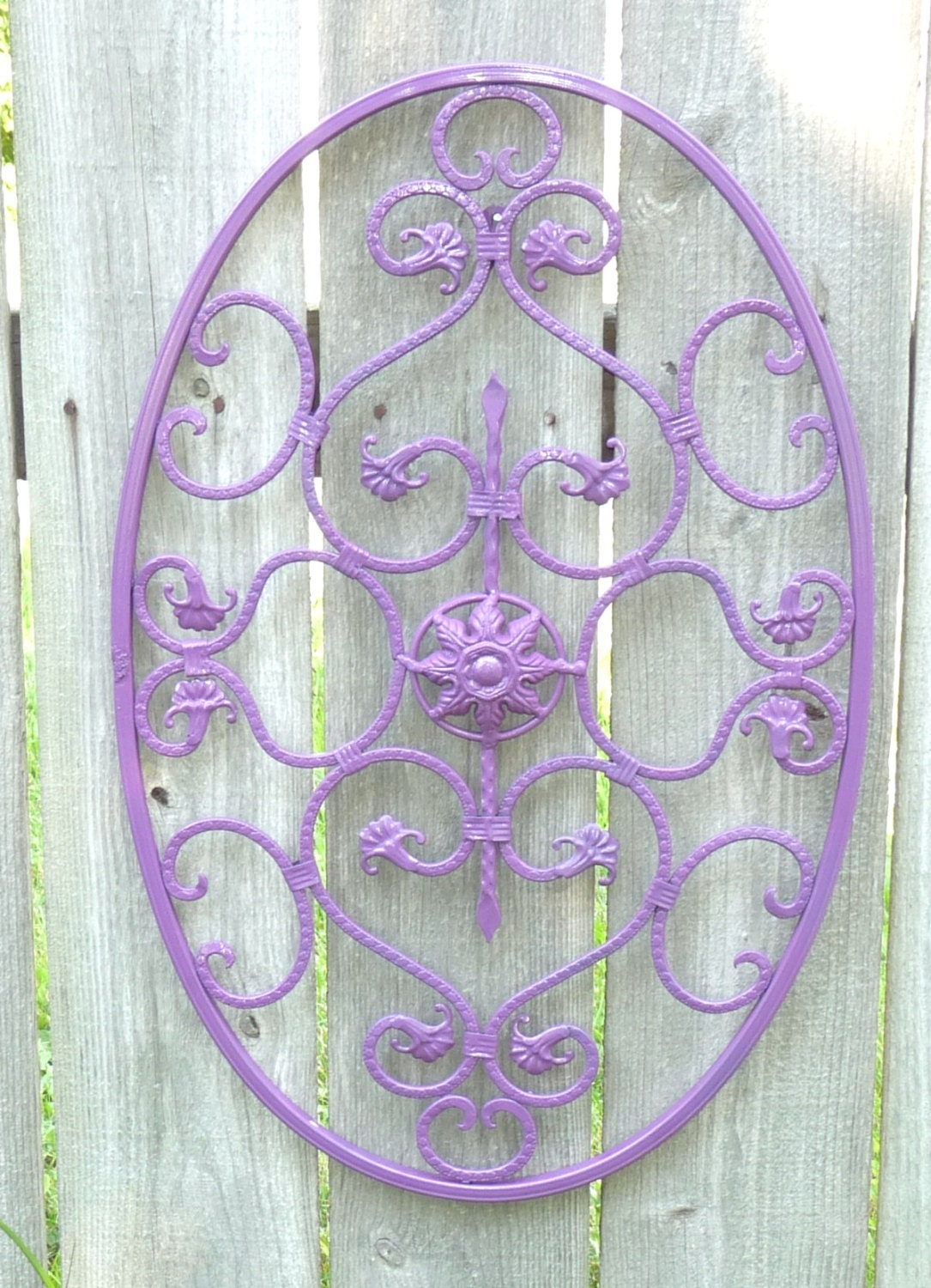 Oval wall art metal scroll wall decor wall by littleshopofpop - Oval wall decor ...
