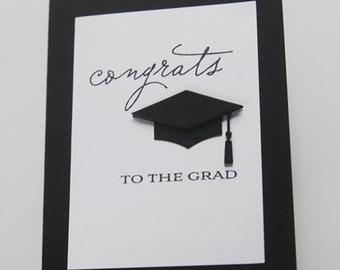 Graduation Congratulations Card, Congrats to the Grad Hand Made Card, Grad Cap Note Card, Happy Graduation Greeting Card