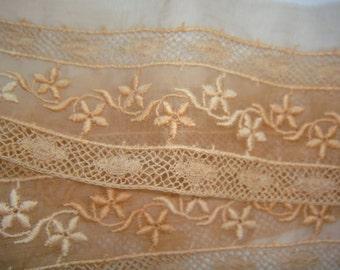 Antique Lace Trim...  Dusty Peach