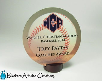 Custom Award Round Personalized Trophy Recognition Plaques