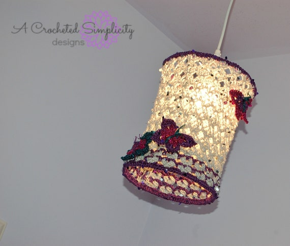 "Crochet Pattern: ""Butterfly Dreams"" Pendant Lamp, Permission to Sell Finished Items"