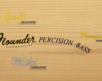 2 guitar - bass custom waterslide decals