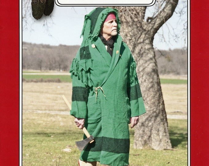 Featured listing image: Missouri River Capote Hooded Blanket Coat Sewing Pattern - Traditional Buckskinners & Indian Style