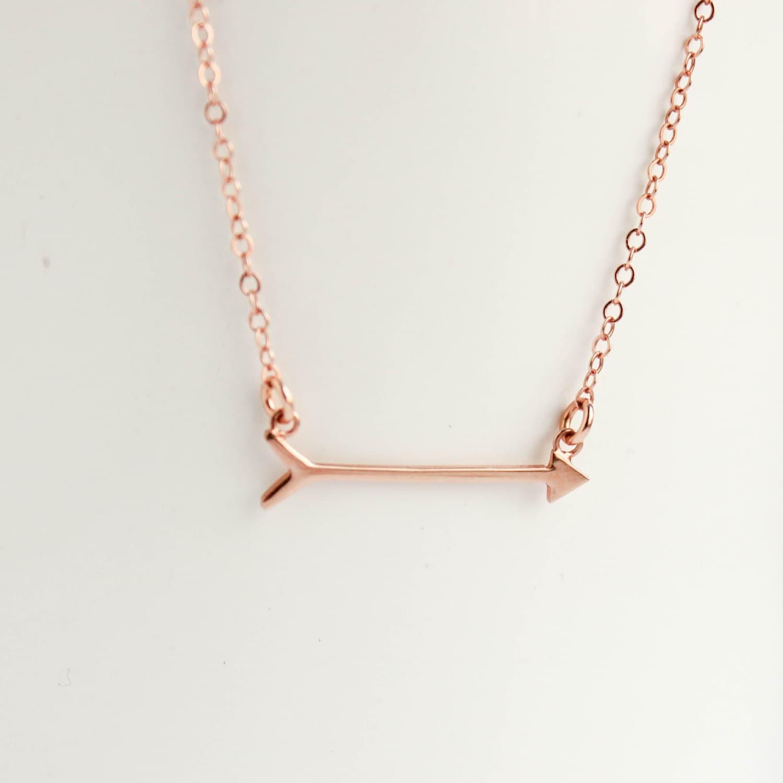 arrow necklace gold arrow necklace arrow by projectdahlia