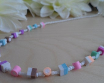 Small Dolly Mixture Beaded Necklace.