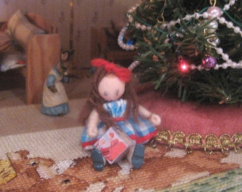 christmas  toy block dollhouse 12th scale miniature wooden