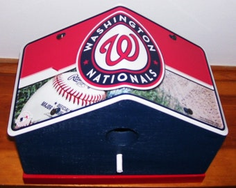 Washington Nationals License Plate Birdhouse/Fathers Day, Sports, MLB, Birthday, Mothers Day, Christmas Gift, Baseball