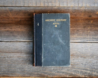 Ancient History, 1904, green, black, vintage book