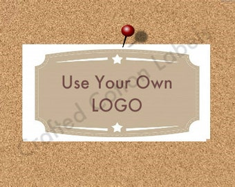 Add Your Logo - White Cotton Custom Printed Labels / Sew in Clothing labels / Personalized Fabric Labels - For Crochet, Knit, Sewing