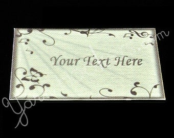 "Silver Sheet - ""Iron On"" or ""Sew In"" - Cotton Fabric Labels (White) - For Crochet, Knit, Sew and Quilt Heirlooms"