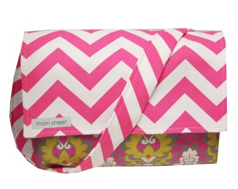 ON SALE!! Pink Chevron & Green/Gray Flowery Camera and Messenger Bag