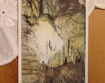 Vintage Postcard, The Glacier, Howe Caverns, New York - 1930s Paper Ephemera