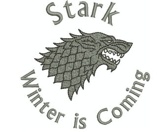Machine Embroidery Design Instant Download - Game of Thrones House Stark Seal