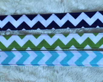 Chevron Print Pacifier and teething toy leash with clip (Set of Three)