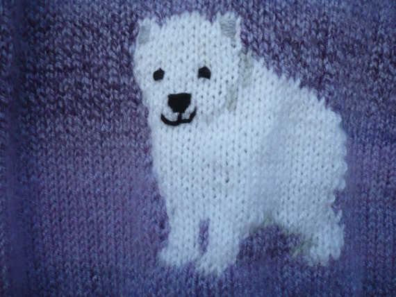 Polar Bear Jumper, chunky knitting pattern, age 4 to 10 years. from BernieBee...