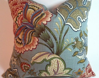 Multi colored linen pillow cover