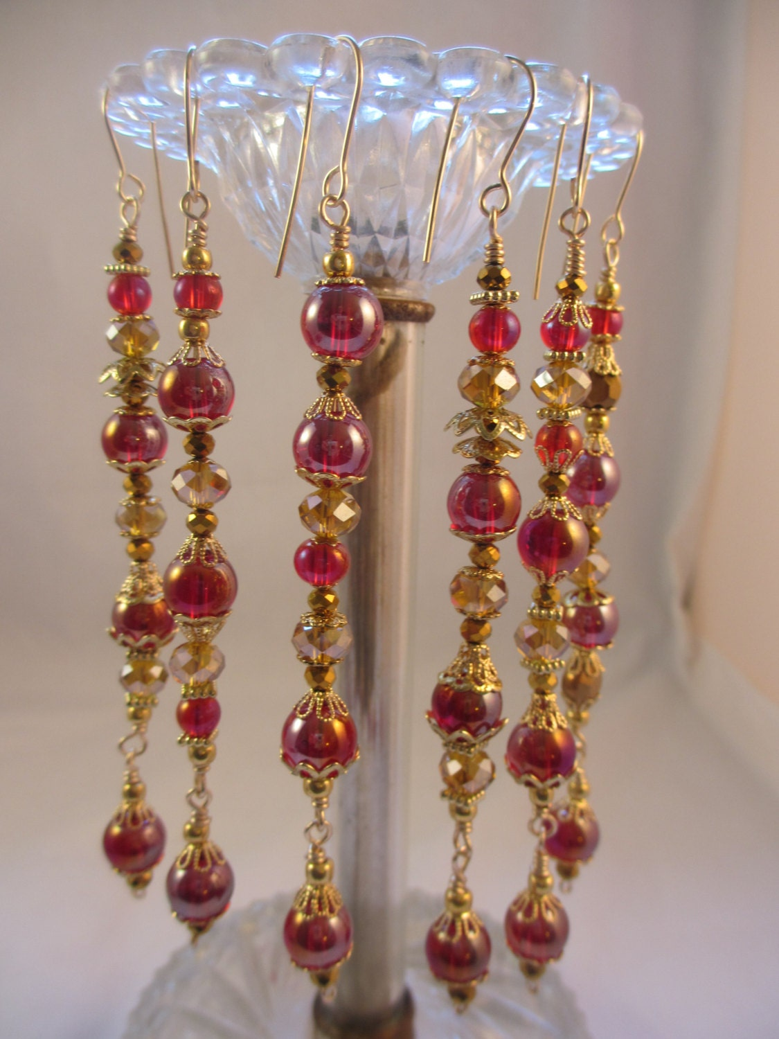 Sale red gold crystal christmas ornament set ornaments set for Christmas ornaments sale