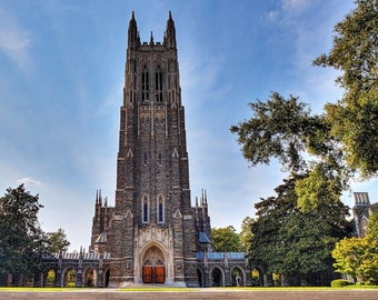 "Duke University Chapel ""Fall at the Chapel"" 8x10 11x14 16x20 Fine Art Print Church Durham NC Graduation Gift Photography Gothic Cathedral"