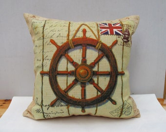 Union Jack Pillow European Style Linen pillow cover Throw Pillow Cover decorative pillow cushion cover double sides design