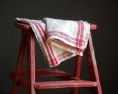 Two Pure Linen Weft Tea Towels - French Country Kitchen