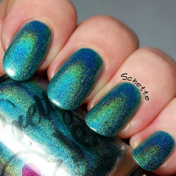 Elysian: Custom Hand Mixed Strong Linear Holographic Teal