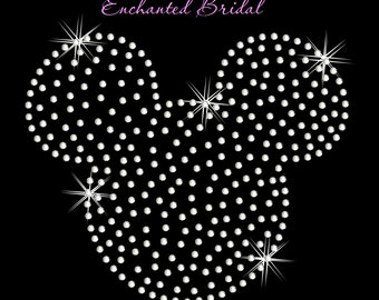 Disney Inspired Filled In Mickey Iron On Rhinestone Transfer DIY Bling