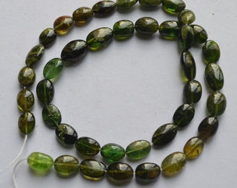 Chrome Tourmaline smooth oval 14 inch Strand